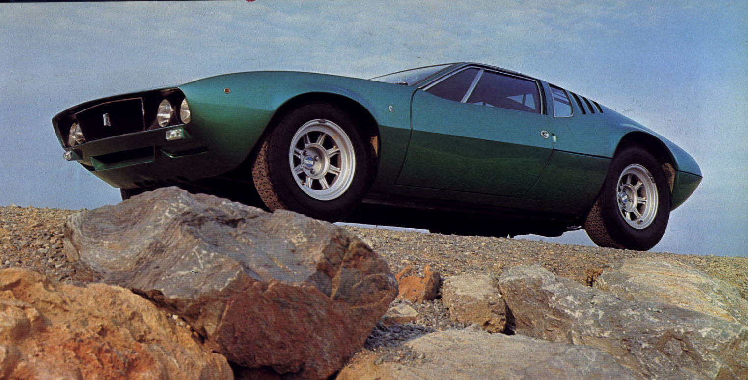 Designed by Giugiaro in 1966, while at Ghia, the De Tomaso Mangusta ...