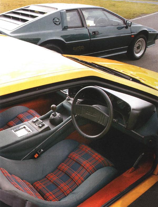 Lotus Esprit S Tartan Interior on Lotus Esprit Practical Classics Magazine
