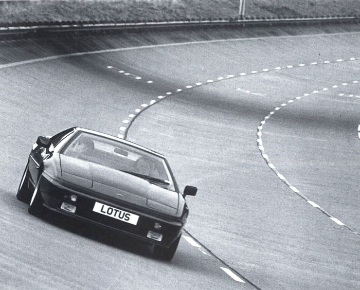 Lotus Esprit Turbo driving around the Millbrook Proving Ground