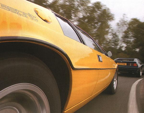Lotus Esprit S Yellow Detail Thum on Lotus Esprit Practical Classics Magazine